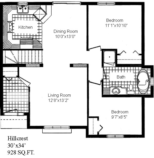 Hillcrest on Custom One Story Homes Plans