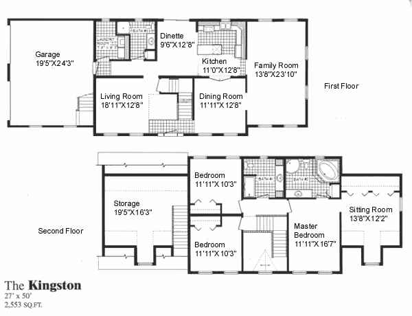 Kingston sea hawk homes for Two story house plans