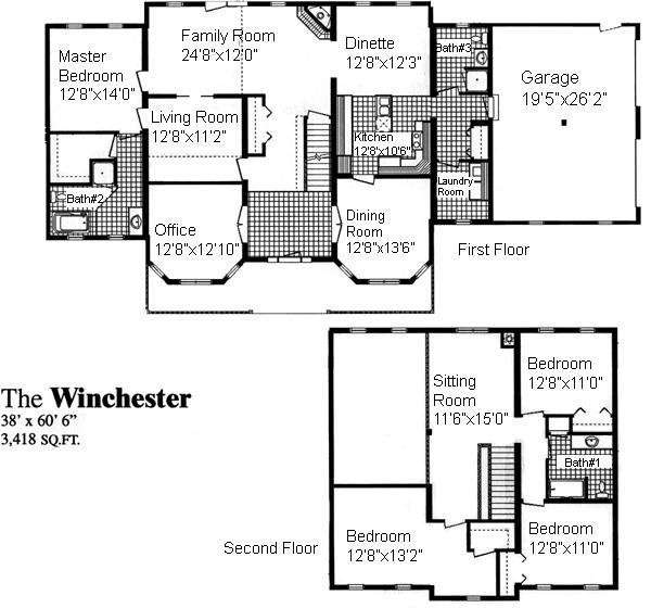 winchester house floor plan